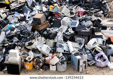 Electronic waste ready for recycling - stock photo