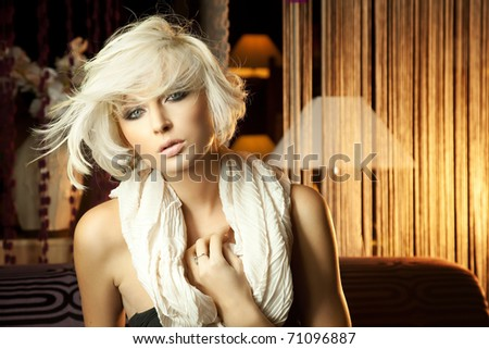 Elegance blonde woman - stock photo