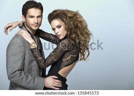Elegance couple - stock photo