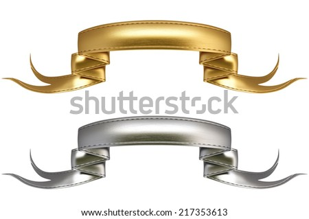 Elegance ribbon banner. Isolated on a white background. - stock photo