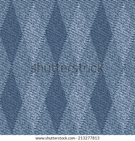Elegance seamless pattern with denim jeans background - stock photo