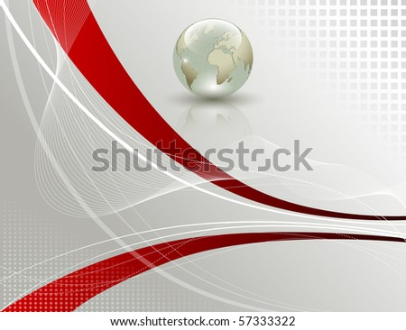 Elegant abstract background - vector illustration - stock photo