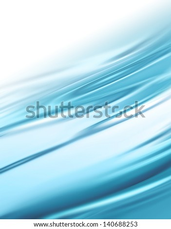 elegant abstract background with blue smooth lines - stock photo