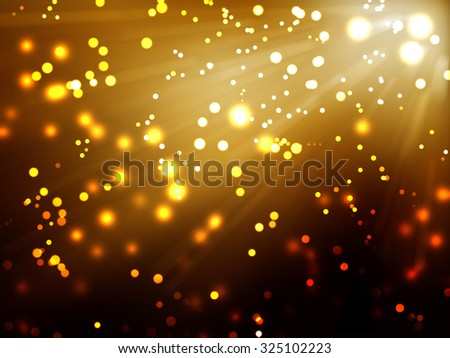 Elegant abstract background with bokeh lights and stars / Soft blurred bokeh background / Colorful bokeh background / Bokeh light - stock photo
