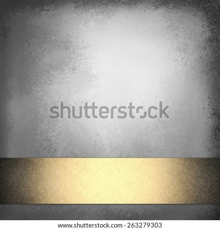 elegant black background with gold ribbon and vintage texture design with blank copyspace for typography or text title - stock photo