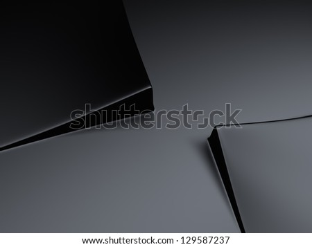Elegant black metallic background with two squares and space for text - stock photo