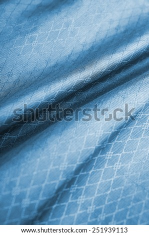elegant blue background abstract cloth or liquid wave illustration of wavy folds of silk texture satin or velvet material or blue luxurious background wallpaper design of elegant curves blue material - stock photo