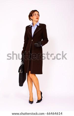 Elegant business woman - stock photo