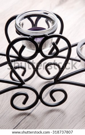 Elegant candel holder for decorating the house. - stock photo