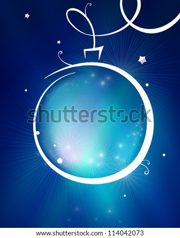 Elegant christmas background with baubles - stock photo