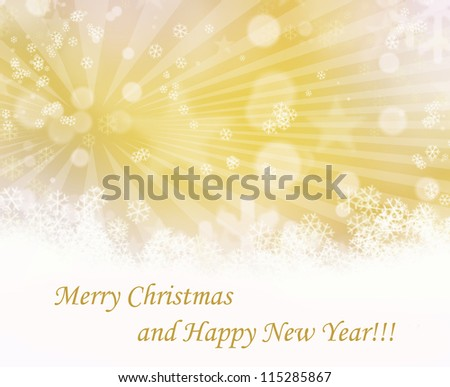 Elegant Christmas background with snowflakes and place for text. - stock photo