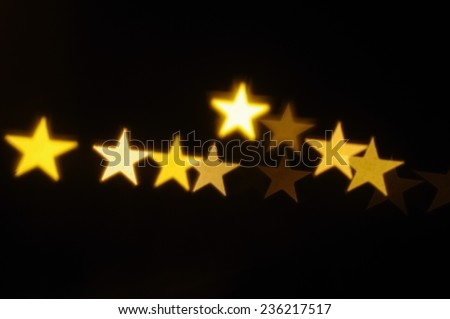 Elegant Christmas background with stars and place for text. Vector Illustration. - stock photo
