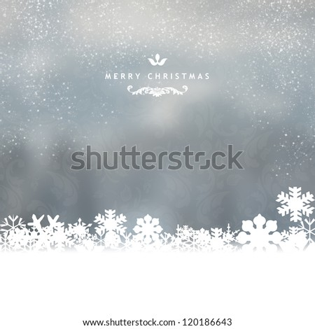 Elegant Christmas card - stock photo