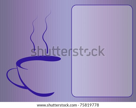 elegant coffee menu. free space on the right to add your content - stock photo