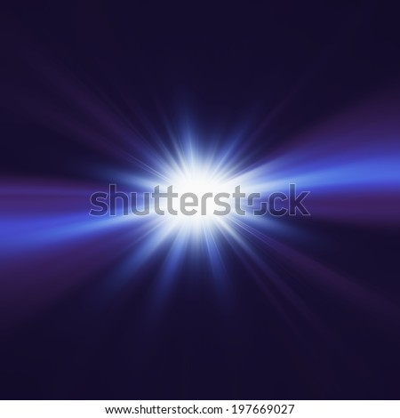 Elegant design with a light burst - stock photo