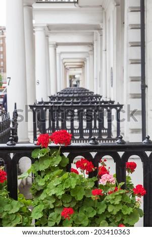 elegant doorways in London - stock photo
