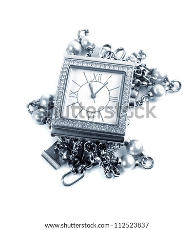 elegant female watch.toned picture - stock photo