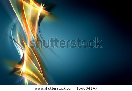 Elegant fractal abstracts - stock photo