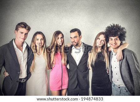 elegant friends - stock photo