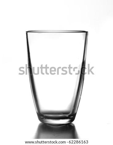 Elegant glass isolated on a white background - stock photo