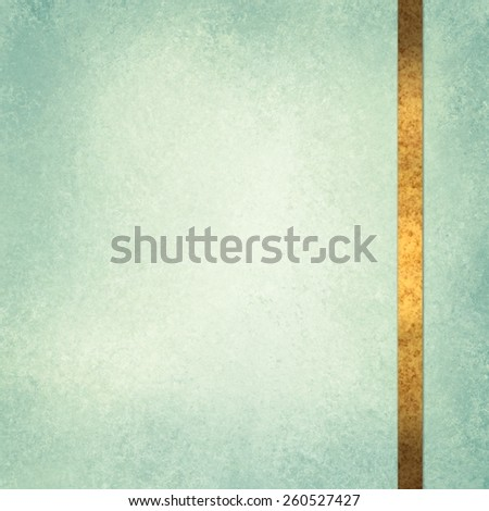 elegant green background paper with shiny gold ribbon accent and beige center - stock photo