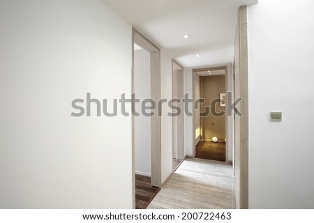Elegant house interior corridor - stock photo