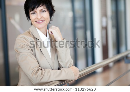 elegant middle aged businesswoman portrait - stock photo