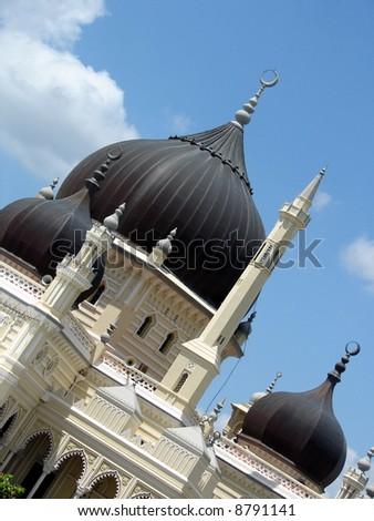 Elegant Muslim Mosque in Asia - stock photo