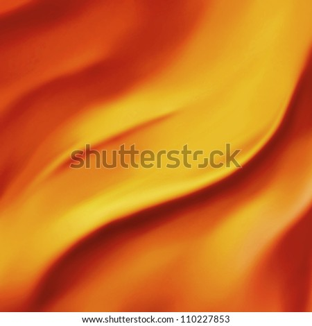 elegant orange background abstract fire or fiery wave illustration of wavy folds of silk texture satin material or gold luxurious background yellow red design of elegant curves gold luxury material - stock photo
