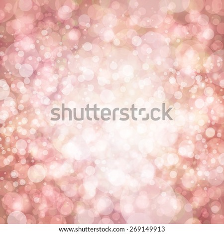 elegant pink background, white bokeh lights - stock photo
