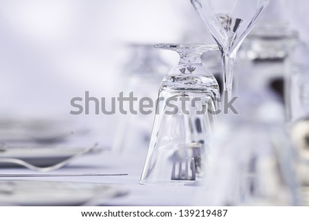 Elegant Restaurant Setting - stock photo