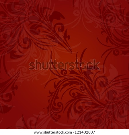 elegant seamless pattern with abstract floral decorations for your design - stock photo