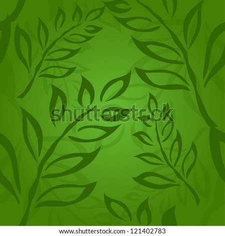elegant seamless pattern with abstract leaves for your design - stock photo