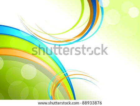 Elegant spring background illustration. - stock photo