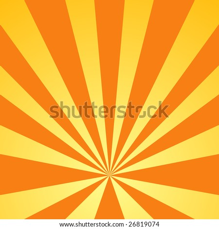 Elegant sunburst background - stock photo
