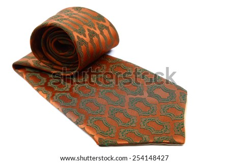 Elegant tie isolated on white background. - stock photo