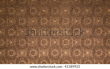 Elegant tooled leather pattern. - stock photo