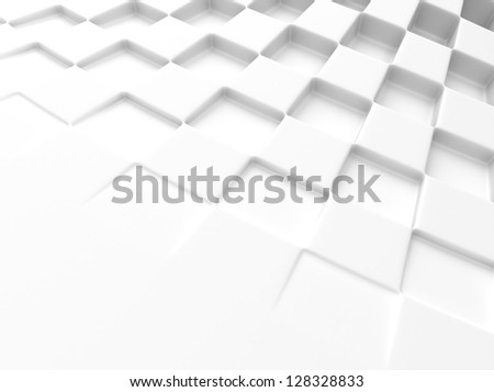 Elegant white background with chess pattern and space for text - stock photo