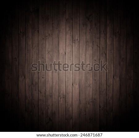 elegant wooden background in dark brown. - stock photo