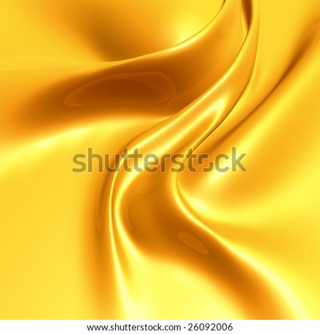 Elegant yellow gold silk satin fabric background - stock photo