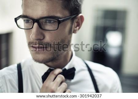 Elegant young man - stock photo
