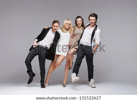 Elegant young people - stock photo