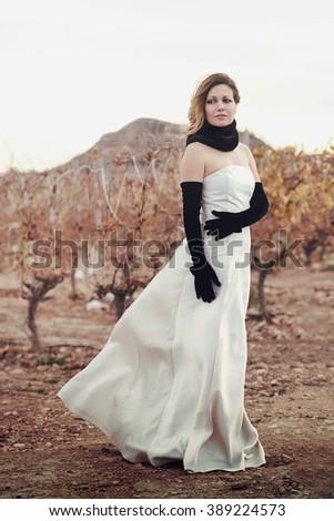 elegant young woman - stock photo