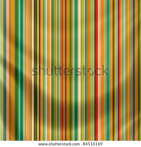 Elegantly flowing satin fabric with retro stripes - stock photo