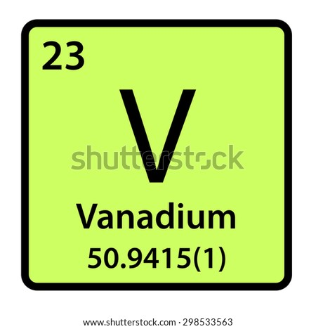 Vanadium stock illustrations cartoons shutterstock - Vanadium symbol periodic table ...