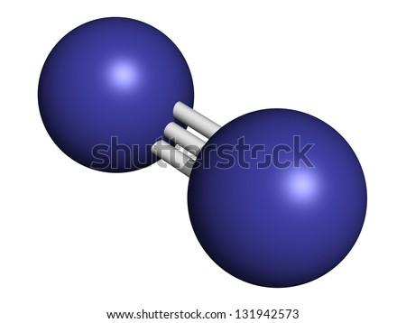 Model of Nitrogen Atom Model Nitrogen Gas is The