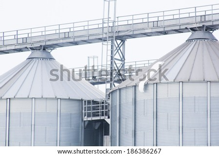 Elements and texture from a cereal silo - stock photo