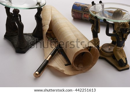 elements of ancient Egypt - stock photo