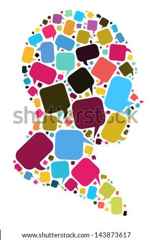 Elements of speech concept - stock photo