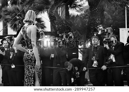 Eleonore Boccara attends the 'Dheepan' Premiere during the 68th annual Cannes Film Festival on May 21, 2015 in Cannes, France. - stock photo
